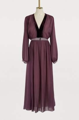 Forte Forte Long dress with velvet details