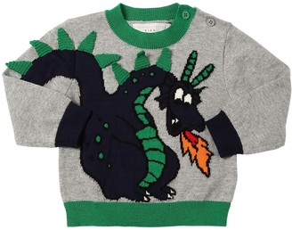 Stella McCartney Dragon Intarsia Cotton Knit Sweater