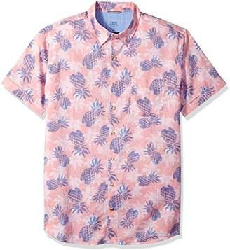 Izod Men's Size Big Saltwater Chambray Short Sleeve Shirt