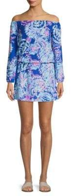 Lilly Pulitzer Lana Printed Off-The-Shoulder Romper