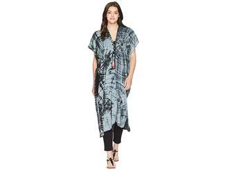 Steve Madden Showstopper Tie-Dye Lace-Up Duster Women's Clothing