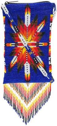 Jessie Western beaded fringes crossbody bag