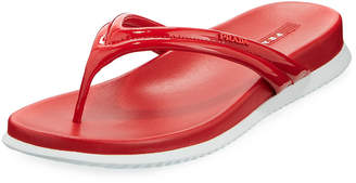 Prada Patent Sport Thong Sandal