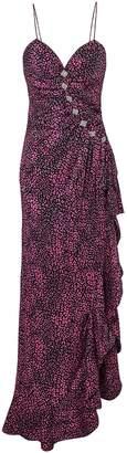 Alessandra Rich Embellished Pink Leopard Dress