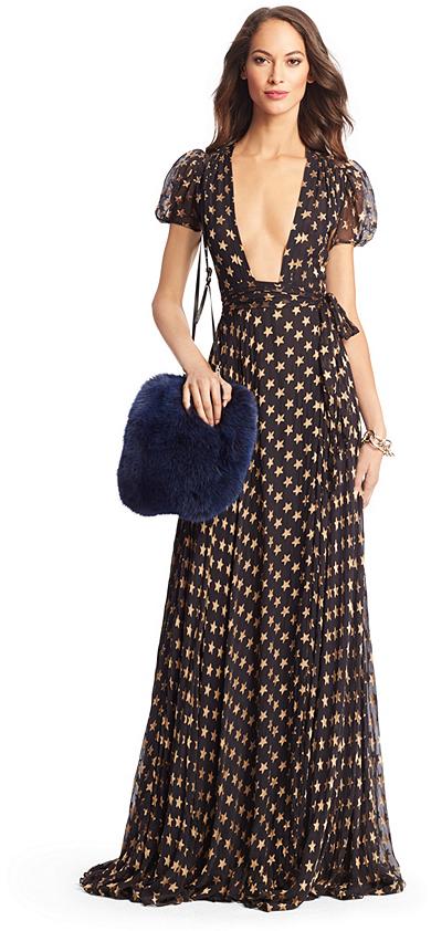 Diane von Furstenberg Tamara Star Chiffon Gown