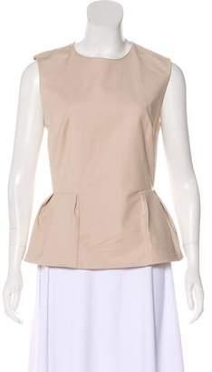 Christian Dior Pleated Peplum Shirt