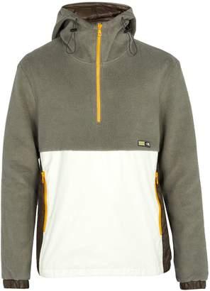 Lanvin Nylon-panel fleece jacket