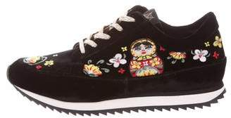 Charlotte Olympia Work It! Matryoshka Embroidered Sneakers