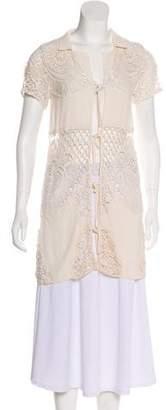 For Love & Lemons Crochet Short Sleeve Tunic