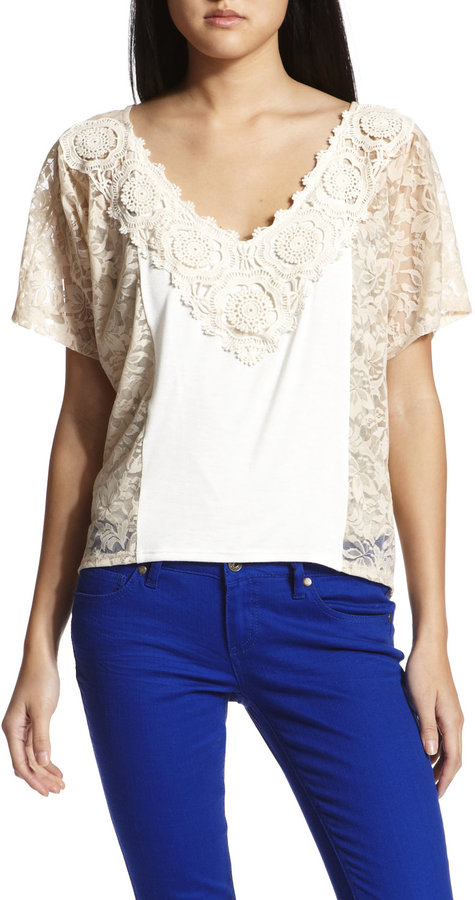 Crochet Flutter Lace Top