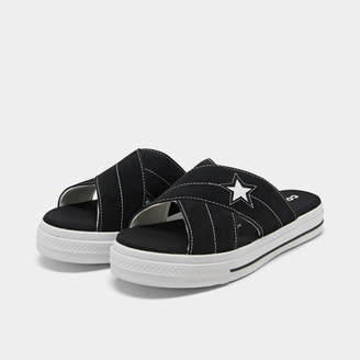 Converse Women's One Star Slip Athletic Slide Sandals