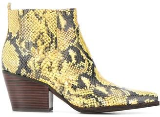 Sam Edelman snake skin boots