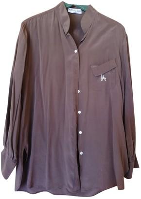 Azzaro Brown Silk Top for Women Vintage
