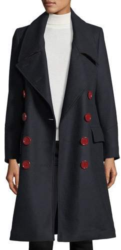 Burberry Benington Double-Breasted Wool Coat
