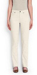 Lands' End Women's Mid Rise Straight Leg Corduroy Pants-Pale Surf Gray $59 thestylecure.com