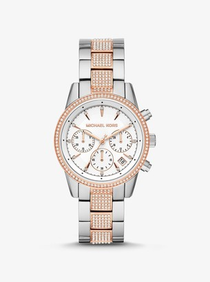 Michael Kors Ritz Pave Two-Tone Watch