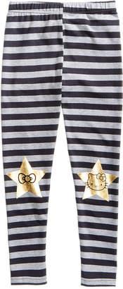 Hello Kitty Toddler Girls Striped Knee Art Leggings