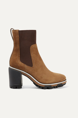 Rag & Bone Shiloh High Leather-trimmed Suede Ankle Boots - Light brown
