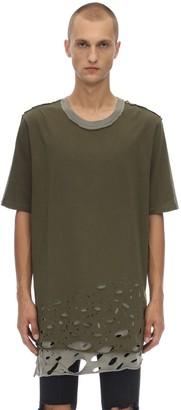 Faith Connexion Distressed Cotton Jersey T-shirt