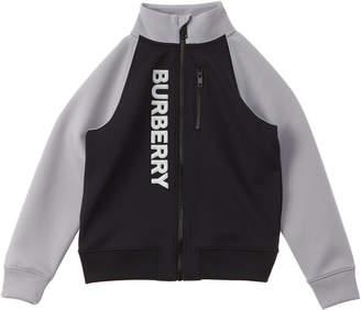 Burberry Logo Print Stretch Jersey Track Jacket