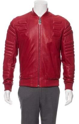 Philipp Plein Textured Leather Jacket