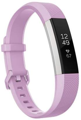 Fitbit Moretek For Alta Band and Alta HR Band Strap Adjustable Replacement with Secure Metal Clasp Buckle(Light Purple,Small)