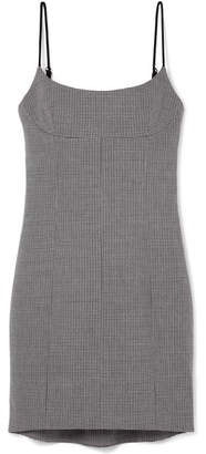 Alexander Wang Houndstooth Tweed Mini Dress - Gray