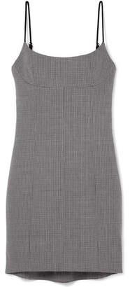Alexander Wang Houndstooth Tweed Mini Dress - Gray