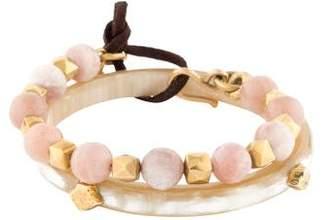 Ashley Pittman Horn & Sunstone Moonstone Bead Bracelet Set