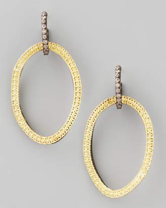 Armenta Midnight Silver & 18k Gold Open-Drop Earrings