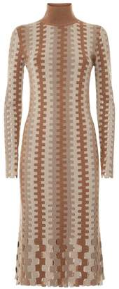 Diane von Furstenberg Turtleneck Knitted Midi Dress