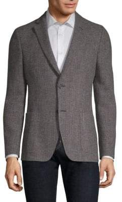Officine Generale Wool Houndstooth Sportcoat