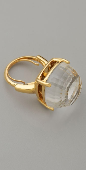 Kenneth Jay Lane Faceted Dome Ring