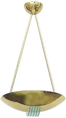 One Kings Lane Vintage Stilnovo Brass & Glass Pendant Light