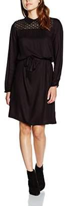 Kaffe Women's 10500697 A-Line Long Sleeve Dress - Black - 8