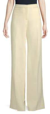 Burberry Wide-Leg Wool-Silk Pants