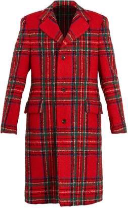 Gucci Tartan wool-blend coat