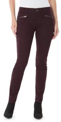 Jordache Women's Zip Moto Skinny Jean