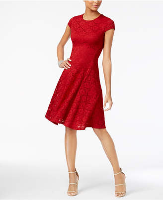 Alfani Petite Lace Fit & Flare Dress, Created for Macy's
