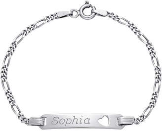 JCPenney FINE JEWELRY Girls Sterling Silver Personalized Name ID Bracelet