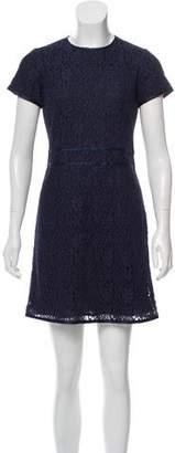 LK Bennett Silk-Trimmed Lace Dress