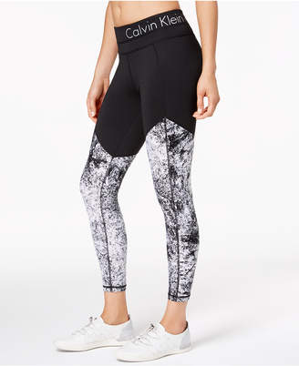 Calvin Klein Diamond Dust Printed Ankle Leggings