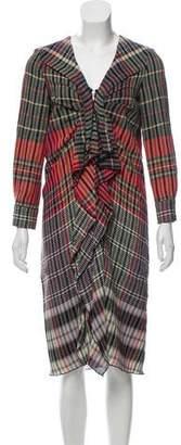 Thakoon Midi Ruffle-Accented Dress