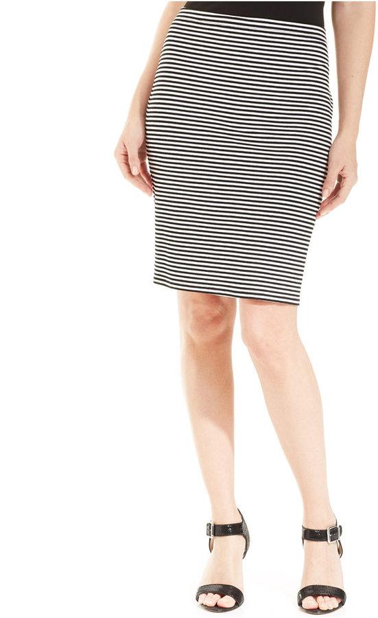 Karen Kane Striped Pencil Skirt