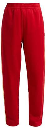 Acne Studios Norwich Face Jersey Track Pants - Womens - Red