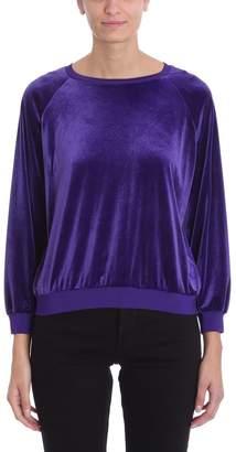 Alexandre Vauthier Purple Velvet Sweatshirt