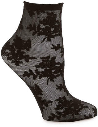 Me Moi MeMoi Sheer Rose Ankle Socks - Women's