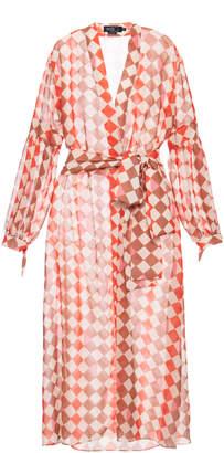 PatBO Check Beach Robe Size: XS