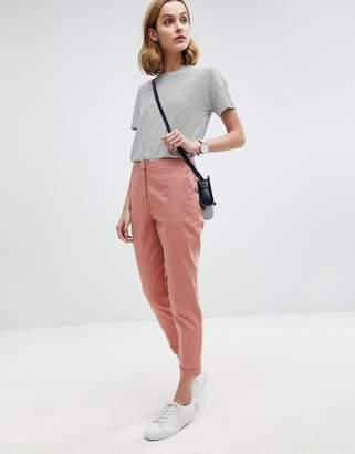 Asos Design Tailored Linen Cigarette Trousers