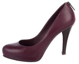Bottega Veneta Leather Round-Toe Pumps